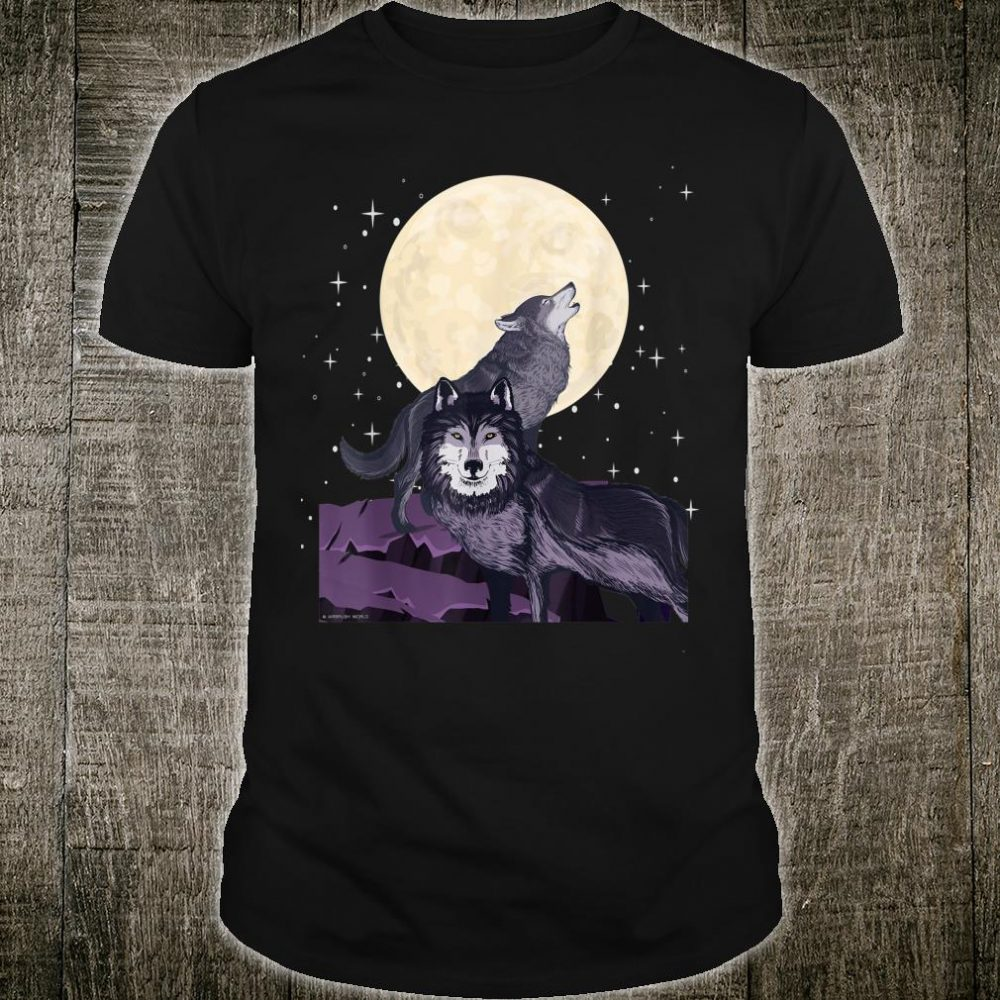 Wolves Howl At The Moon Wolf Outdoor Survivor Shirt