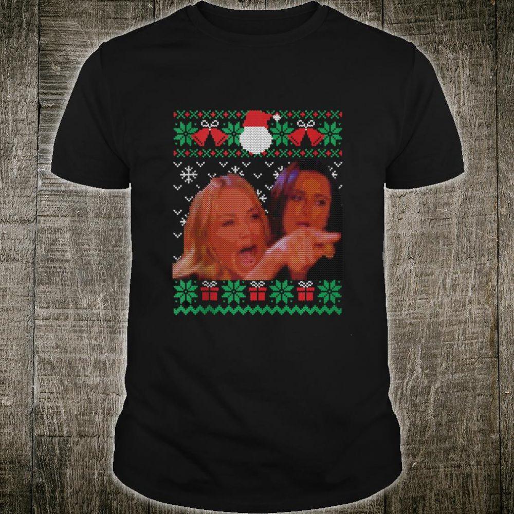 Woman Yelling at Cat Meme, Ugly Christmas Shirt