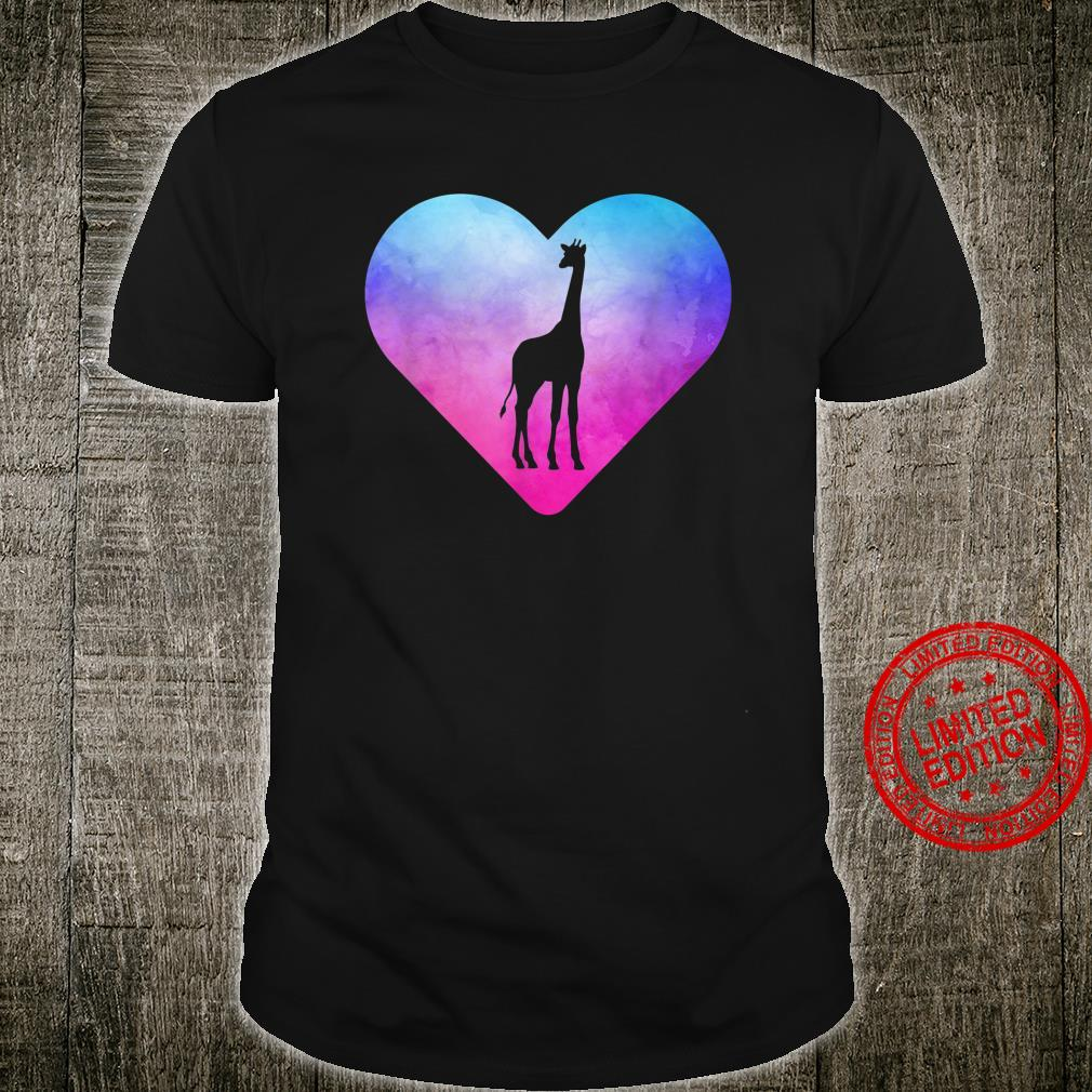 Women or Girls Giraffe Shirt