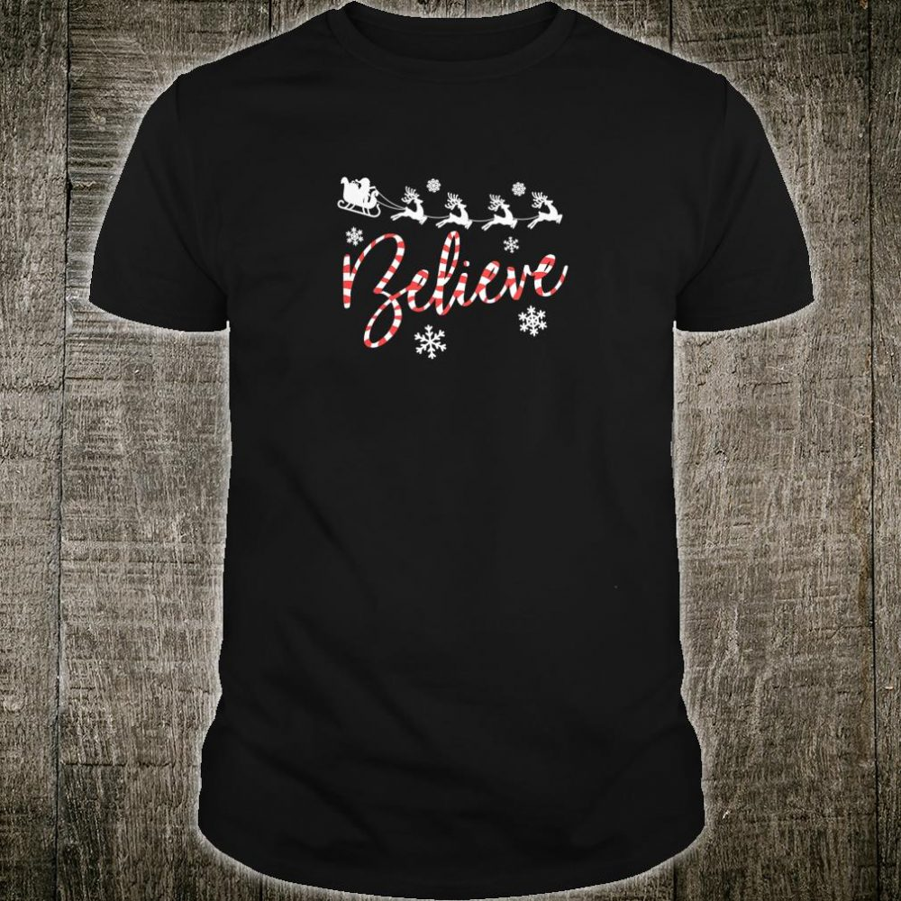 Womens Believe Santa For Your Christmas Party Shirt