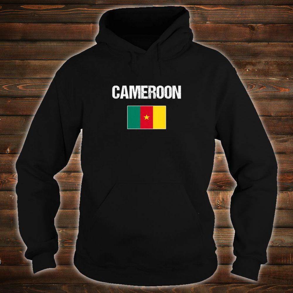 Womens Cameroonian Heritage Pride Cameroon Flag Shirt hoodie