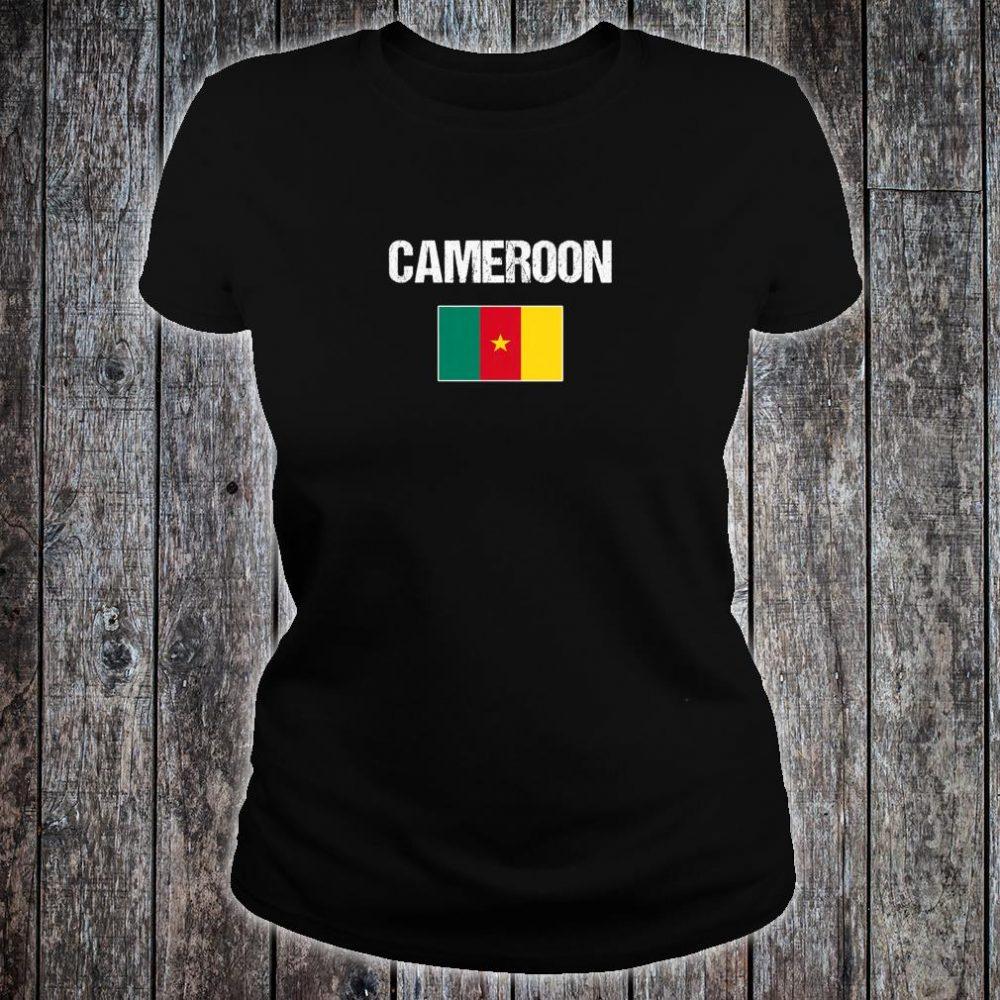 Womens Cameroonian Heritage Pride Cameroon Flag Shirt ladies tee