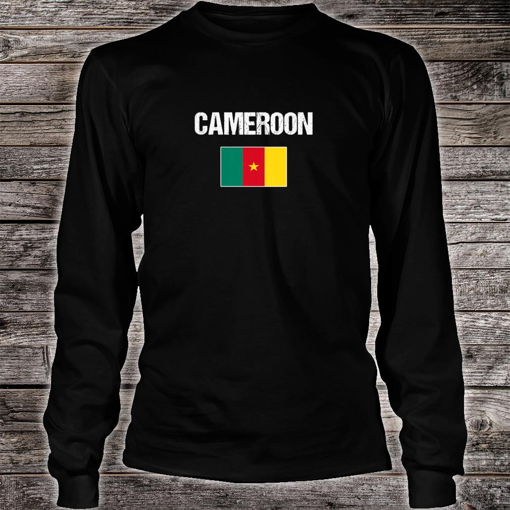 Womens Cameroonian Heritage Pride Cameroon Flag Shirt long sleeved