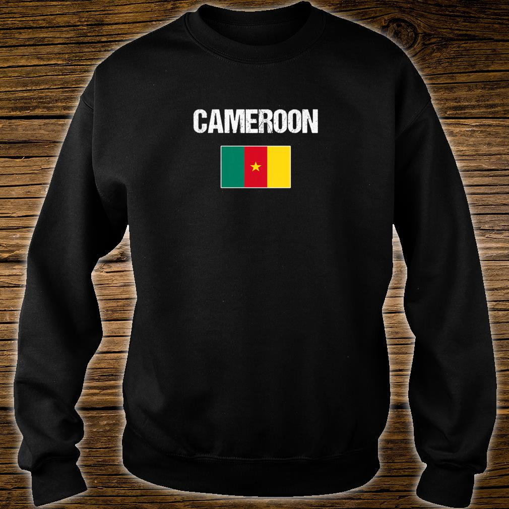 Womens Cameroonian Heritage Pride Cameroon Flag Shirt sweater