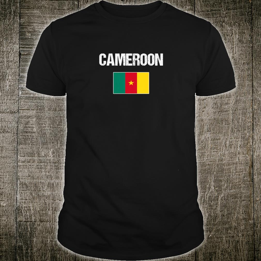 Womens Cameroonian Heritage Pride Cameroon Flag Shirt