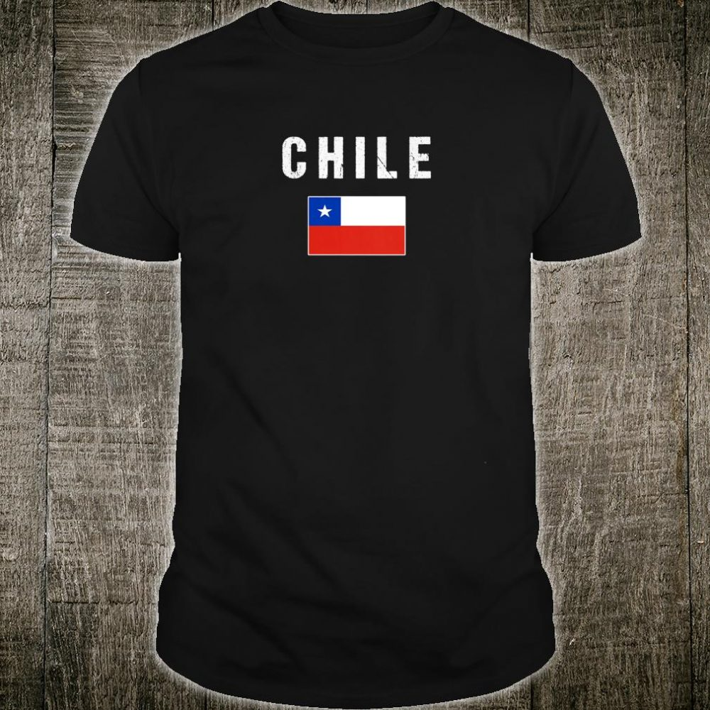 Womens Chilean Heritage Pride Chile Flag Shirt