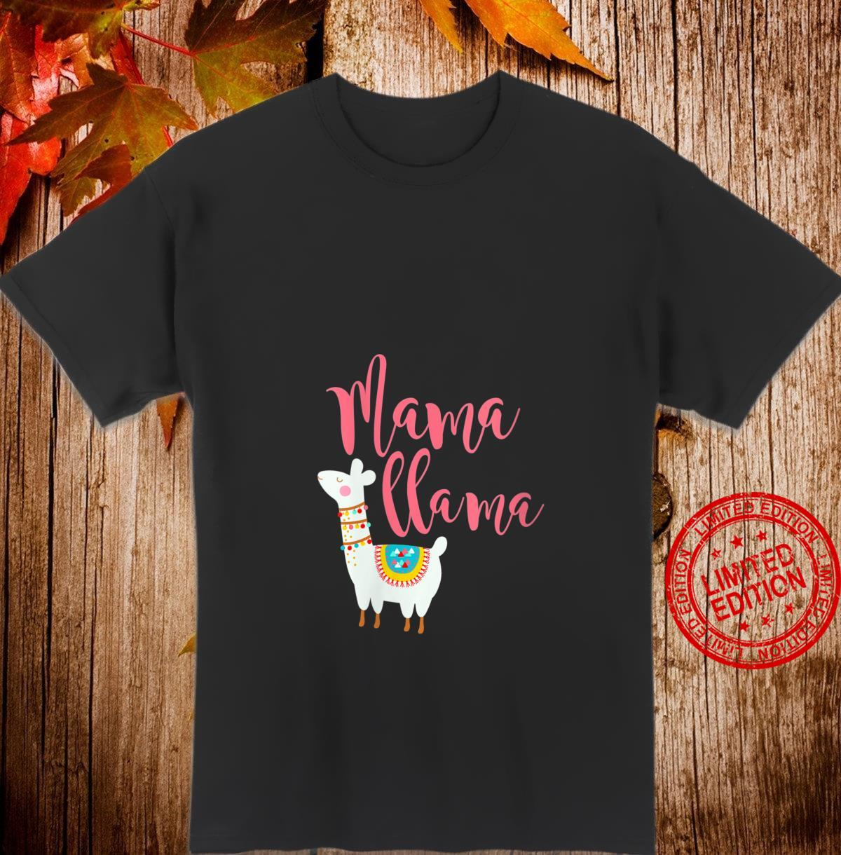 Womens Mom Quote Boho Mama Llama Cute Mother's Day Shirt