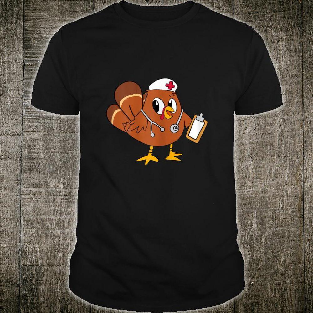 Womens Thanksgiving Scrub Turkey Nurse Scrub Tops For Nursing Shirt