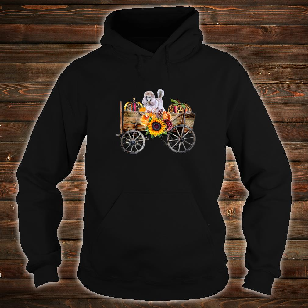 Womens White Toy Poodle Clothing Poodle Dog in Country Wagon Shirt hoodie