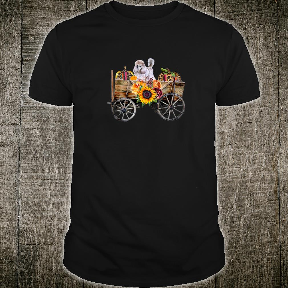 Womens White Toy Poodle Clothing Poodle Dog in Country Wagon Shirt