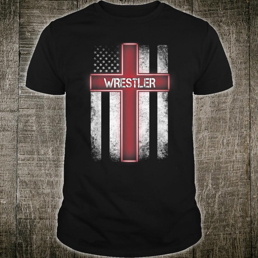 Wrestler American Flag Christmas Xmas For Wrestler Shirt